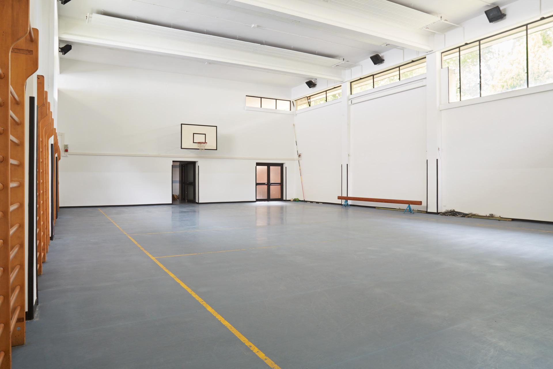 La sede di Monza del Collegio Villoresi: la palestra