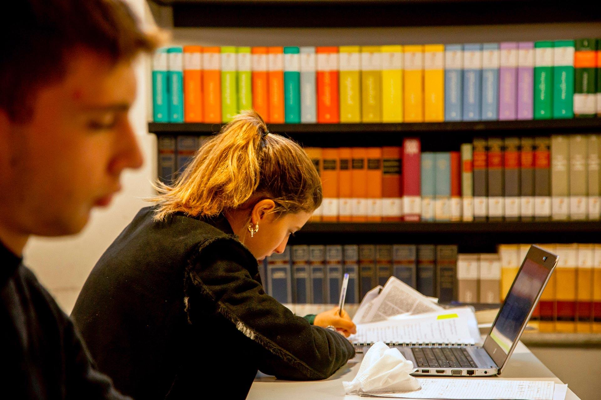 Istituto Tecnico Economico Collegio Villoresi: ragazza studia