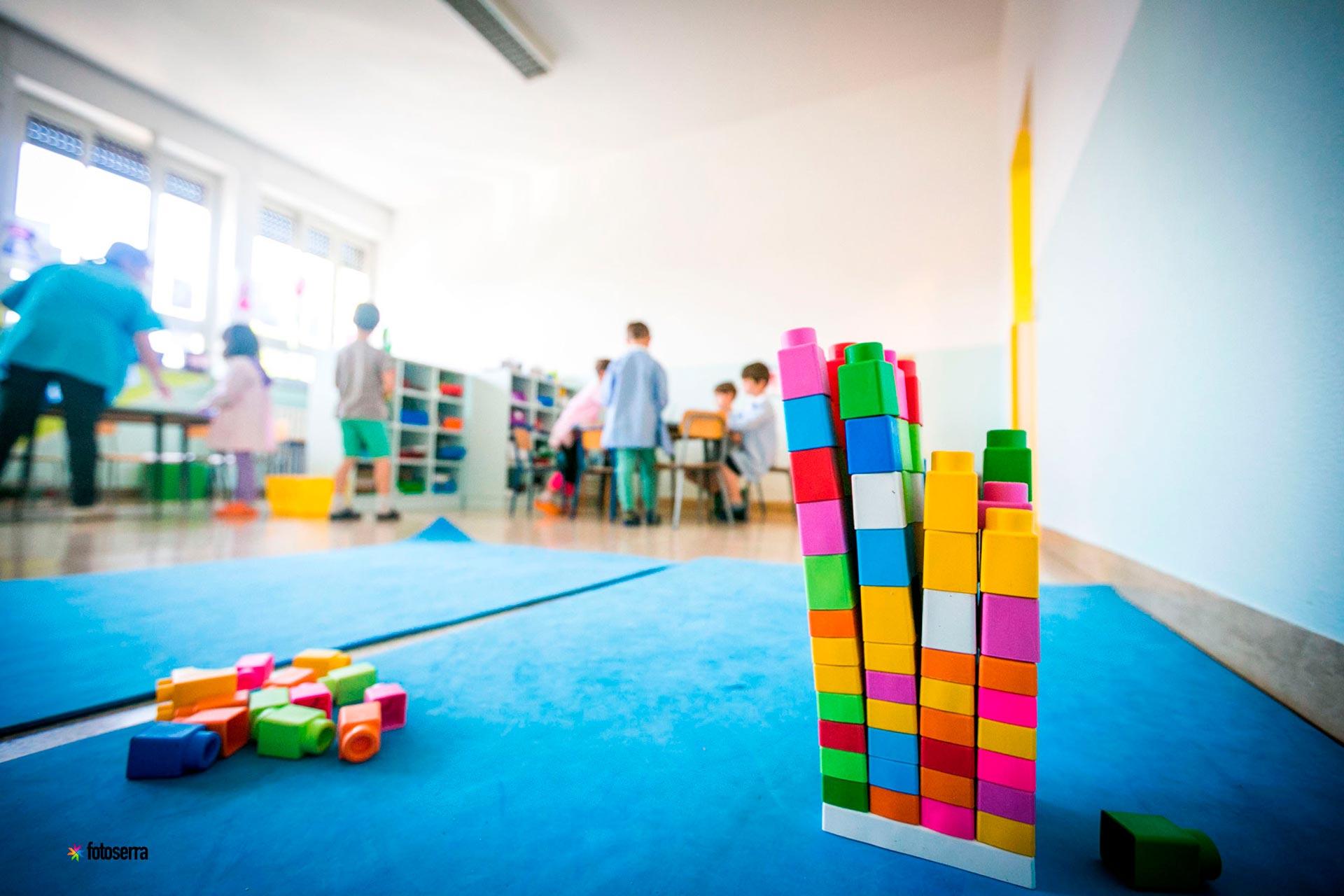 Nido del Collegio Villoresi: aula con giochi educativi